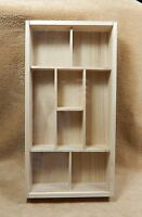 Unfinished Wood Wooden Hanging Memory Box
