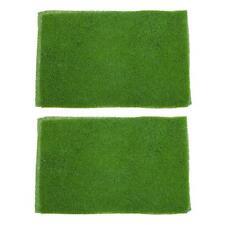 2pcs Light Green Model Grass Lawn Mat Dollhouse Garden Street Scenery Layout