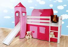 Structures de lit et sommiers en hêtre pour enfant
