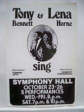Tony & Lena Sing Herald Concert Tour Tony Bennett / Lena Horne Boston 1974