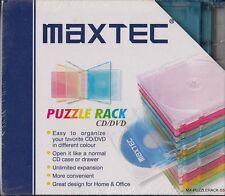 Puzzle Rack cddvd. custodie jewel colorate per cddvd - NUOVO E SIGILLATO