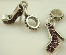 New European Silver CZ Charm Beads Fit sterling 925 Necklace Bracelet Chain j15