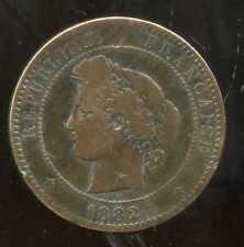 FRANCE  10  centimes  1882  CERES       ( etat )