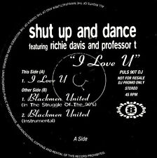 "12"" - Shut Up And Dance - I Love U (HIP HOUSE & RAP) ""PROMO"" VINYL MX NEAR MINT"