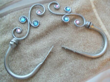 Style Selections Kid`S Room Deco. Holdback Silver With Swril Pink/Blue Gem Nwt