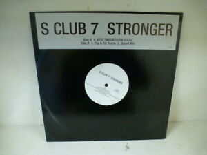 "S Club 7 : Stronger 12"" Vinyl Record - ATFC Twelvetotwen Flip & Fill Remix"