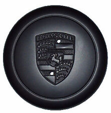 Genuine Porsche Fuch Fuchs Black Alloy Wheel Metal Centre Cap x1 New