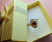 Sterling Silver 925  Handcrafted Natural Citrine Stone Ring skaisSP17