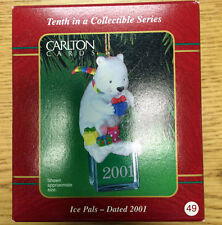 2001 Carlton Cards Ice Pals #10 Christmas Ornament Tenth in Series In Box