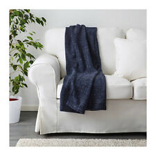 IKEA GURLI Blanket Bed Couch Sofa Knee Lounge Throw Rug in Black Blue  180x120cm c552f01475fd