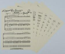 "May Pang JOHN LENNON Signed Autograph ""#9 Dream"" Sheet Music The Beatles Related"