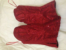 Red sequin corset. 32C