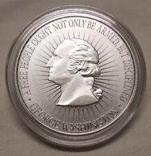 1 oz Silver Round George Washington 2nd Amendment Bill of Rights Gun Pistol Coin