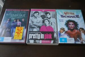John Hughes DVD Collection - Breakfast Club 2Disc, Pretty in Pink, Weird Science