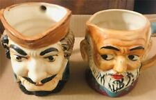 2 Vintage Full-Size Toby Character ater Jugs Pitchers - Made in Japan