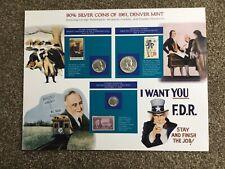 More details for 90% silver coins of 1961. denver mint set, commemorative. unused, stamps