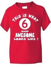 T-shirts et débardeurs rouge pour fille de 2 à 16 ans en 100% coton, taille 4 - 5 ans