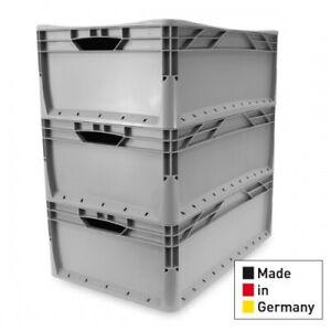 3x Eurobehälter EuroBox, Vol. 42 L, lebensmittelecht, Gastro, 60x40x22
