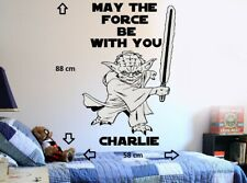 Star Wars Yoda Personalized DIY Wall Art Sticker/Decal/Mural bedroom playroom