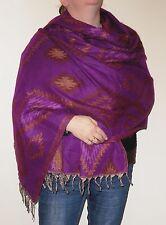 Boho Bandit Aztec Design Reversible Warm Snug Indian Soft Acrylic Shawl (AR11)