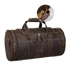 Vintage Men's Leather Travel Luggage Bag Shoulder Bag Weekend Overnight Handbag