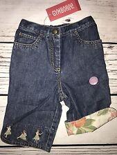 NEW Gymboree Girls 12m 18mo Toddler Ankle Jeans Capri Denim Hula Aloha Wahine