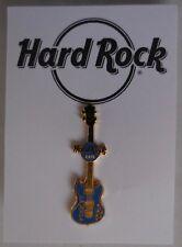 Hard Rock Cafe Pin 2001 Mini Guitar Series Vertical blue Guitar La Jolla LE3000