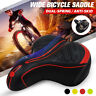 Extra Wide Big Bum Bike Bicycle Cycling Gel Comfort Seat Saddle Pad Dual-spring