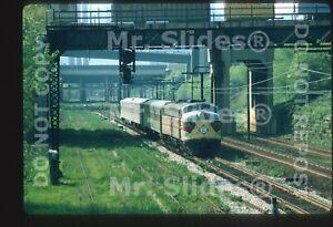 Original Slide EL Erie Lackawanna E8A 816 Passenger Action Cleveland OH 1972