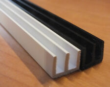 90cm 4MM DEEP PAIR VIVARIUM GLASS RUNNERS/TRACK FOR SIDES OF VIVARIUM