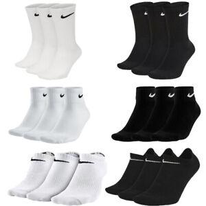 Mens Womens Everyday Cotton 3PCS Cushioned Performance Training Crew Socks Size