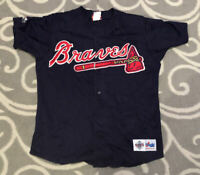 Chipper Jones #10 Atlanta Braves Majestic Diamond Series Baseball Jersey Medium