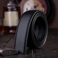 Mens Leather Strap Waist Belts Waistband Ratchet Replacement No Buckle
