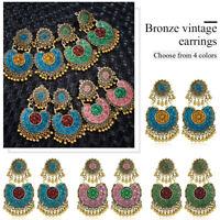 Vintage Ethnic Bohemian Drop Dangle Women Tassel Earrings Ear Stud Jewelry