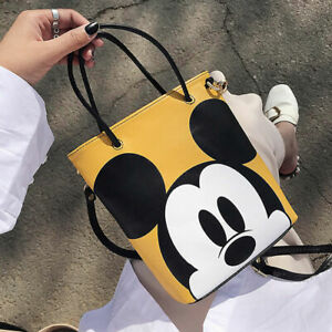 2020 NEW Mickey Mouse Handbag Shoulder Bag Reusable Shopping Bags PU Tote Bags