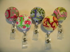 5 for 25 Bucks Personalized ID Retractable Badge Reels Pinch or Belt Loop Clips