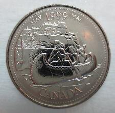 1999 CANADA 25¢ MAY MILLENIUM SERIES BRILLIANT UNCIRCULATED QUARTER