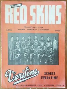 1949 Sheboygan Red Skins Redskins Syracuse Nationals NBA BAA Basketball Program