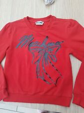 Kids Moschino red  Sweatshirt Jumper Age 6 years  Boy Girl Designer