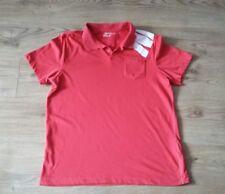 NIKE Golf Sport Men's Red Polo Cotton  Tshirt size L