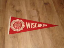 VINTAGE 1940'S WISCONSIN BADGERS NCAA FOOTBALL PENNANT FULL SIZE