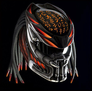 TOP PREDATOR HELMET CUSTOM FIRE ORANGE ( DOT CERTIFIED )