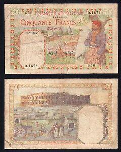 Algeria / Algerie - 50 francs 1945 BB-/VF-  RaRe  B-04