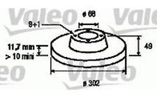VALEO Juego de 2 discos freno Trasero 302mm AUDI A6 197125