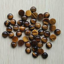 Wholesale 50pcs/lot natural tiger eye stone round CAB CABOCHON stone beads 10mm