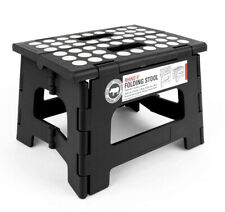 Kikkerland Folding Step Stool Home Accessibility Black Small Grip Dots Anti Slip
