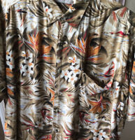 Cooke Street Sailboat Flowers Bird Of Paradise  Vintage Hawaiian Shirt L 4100