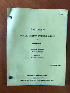 1967 BATMAN TV SHOW FINAL SCRIPT BLACK WIDOW STRIKES AGAIN