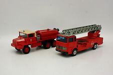 Solido  1/50 - Lot de 2 Pompiers Mercedes Echelle et Berliet