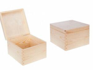 große Kiste Aufbewahrungsbox Verschluss Holzkiste Deckel Box Holzbox 30x20x13